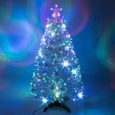 White Fibre Optic Christmas Tree With Multicoloured LED Lights