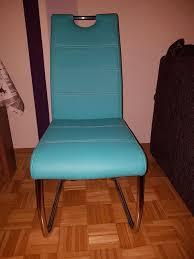 6 esszimmer stühle in türkis