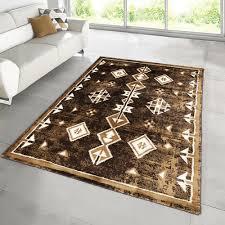 braun skandinavisch beige creme teppich teppiche kurzflor