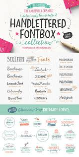 The Handlettered Fontbox From Nicky Laatz And Get 24 Hand Lettered Fonts Plus 180 Vector