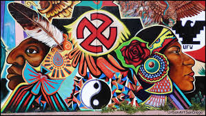 Chicano Park Murals Meanings by The State Of The Union Afuera Violent Uprising Ensues When