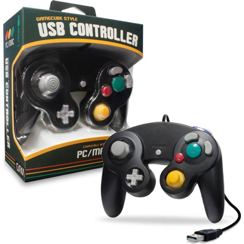Cirka Premium GameCube-Style USB Controller for PC/Mac (Black)