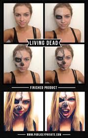 Halloween Half Mask Ideas by Best Halloween Costumes And Diy Makeup Living Dead Half Skeleton