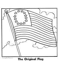 First American Flag Coloring Page The Printable Image 002 Print Pages