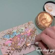 Viva Decor Inka Gold Turquoise by Video Viva Decor 3d Stamp Paint Youtube Viva Decor Pinterest