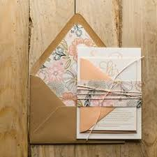 Bailey Suite Rustic Package Peach Coral Blush Mint Wedding Invitations Twine For