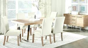 Light Wood Dining Room Set Glass Tables Table Simple On And Chairs