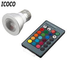 icoco 5w e27 multi color change rgb led light bulb l remote
