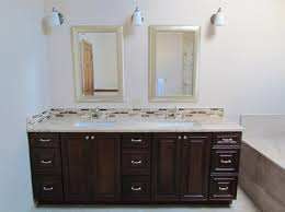 Bathtub Resurfacing Dallas Tx by This Master Bathroom Features Beautiful Dark Cabinetry With A