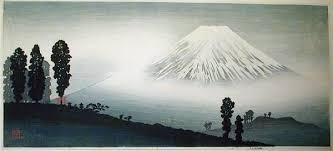 Shotei Takahashi M14 Mt Fuji In Mist Mountain Pass Front