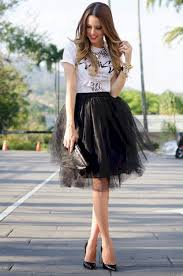 Black Tulle Skirt Outfit