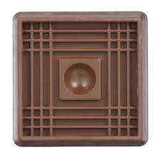 Furniture Sliders For Hardwood Floors Home Depot by Shepherd 2 In Brown Smooth Rubber Furniture Cups 4 Per Pack