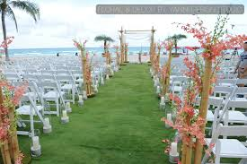 Beach Wedding Ceremony Decor And Floral At Acqualina Resort Spa