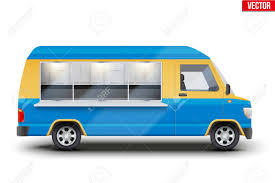100 Food Truck Window Modern Fast Van With Yellow And Blue