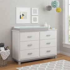 6 Drawer Dresser White by Cosco Leni 6 Drawer Dresser With Changing Table White Light
