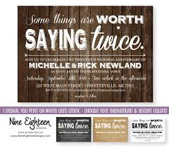 Vow Renewal INVITATION Some Things Are Worth Saying Twice Customized PDF JPG Included I Design You Print