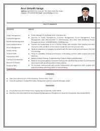 Resume Facility Manager Arun Veliyath Ganga Address Bank Melli Iran Suite No 706