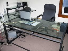 modern glass l shaped computer desk designs desk design