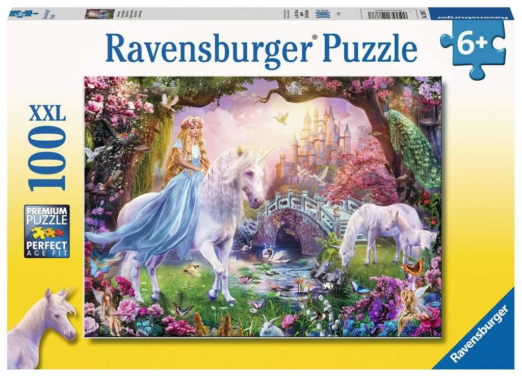 Ravensburger 12887 Magical Unicorn, Be Happy XXL 100pc Jigsaw Puzzle