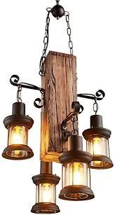 retro holz hängende le kreative industrielle loft antike pendelleuchte glas metall e27 personalisierte dekorative kronleuchter edison vintage
