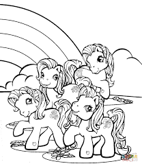 Little Pony Near Rainbow