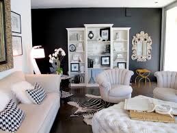 Living Room Ideas Brown Leather Sofa by Black And White Living Room Ideas Pictures Grey Curtains Shelf