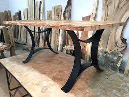 Iron Dining Table Legs Base Regarding Steel Decorations 6 Diy Metal Wooden With Uk