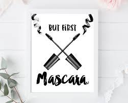 But first mascara print bathroom bedroom makeup wall art make
