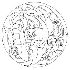 Image Of Free Mandala Coloring Pages Animals