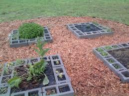 BeppyCat & Co Cinder Block Raised Bed Herb Garden