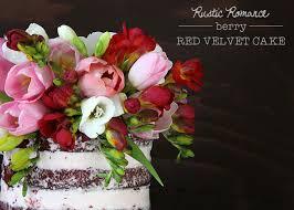Rustic Romance Berry Red Velvet Cake TessaHuff