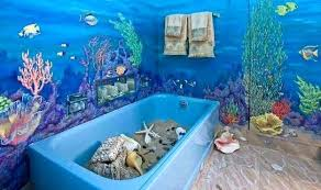 green sea glass bathroom accessories mermaid decor kids wall art