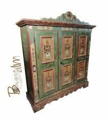 details zu voglauer anno 1800 altgrün blau schrank bauernschrank schlafzimmer wohnzimmer