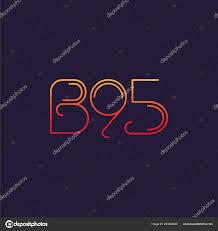 100 B95.com Letter Logo B95 Template Business Banner Stock Vector