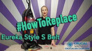 Eureka Airspeed All Floors Belt by How To Replace Your Eureka Style S Belt Part 84756 Youtube