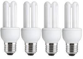4 x energy saving 11w 54w 60w e27 es cfl light bulbs edison