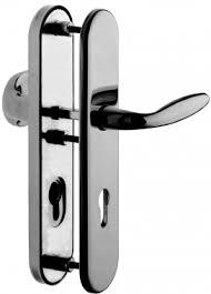 bequille de porte exterieur poignée de porte d entrée de sécurité en laiton nickel mat sur