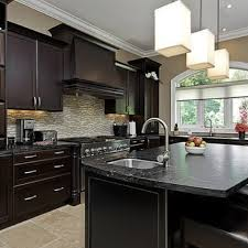 dark kitchen cabinets with tile floor quicua com