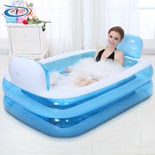 Portable Bathtub For Adults by Size 152 108 60cm With Electric Pump Inflatable Bathtub Folding