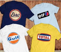 retro gas petrol brand logo t shirts vintage oil 70 u0027s