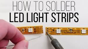 how to solder led light strips by superbrightleds