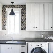 mixed laundry room backsplash tiles design ideas