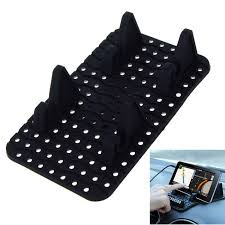 Versatile Cell Phone Parking Number Plate Anti Slip Mat Black
