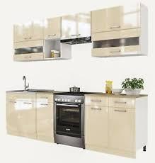 details zu eldoradomöbel küche alina creamelack küchenzeile küchenblock komplett küchen