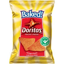 Doritos Baked Nacho Cheese Flavored Tortilla Chips