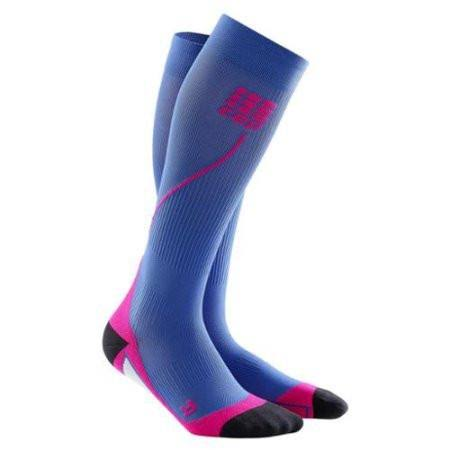 CEP Women's Progressive+ Run Compression Socks - Purple Blue/Pink, Size 4