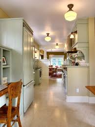 DecorationsSimple Vintage White Kitchen Lighting With Cabinet And Cream Flooring Idea Simple