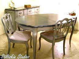 French Provincial Dining Table Antique And Chairs Us On Antiqued Wood Circular Extending Tables Di Oak