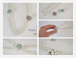 How To Make Pretty DIY Pearl Statement Necklace Step By Tutorial Instructions