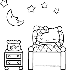 Free Printable Hello Kitty Coloring Pages Party Invitations Activity Sheets And Paper Crafts For Fans The World Over